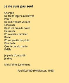 Paul Éluard - Je ne suis pas seul