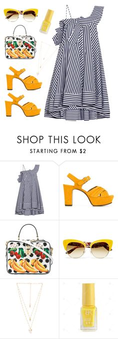 """you got me like whoa!!!"" by felicitysparks ❤ liked on Polyvore featuring MSGM, Chie Mihara, Dolce&Gabbana and Natalie B"