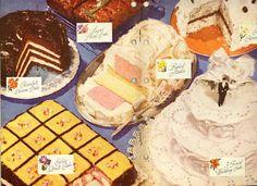 Vintage 1950s desserts.