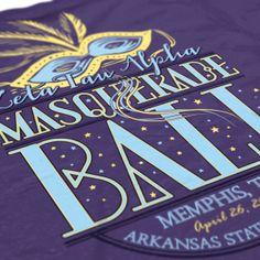 Zeta Tau Alpha - ZTA - Masquerade Ball Design - Zeta shirts - Sorority Shirts - Check out b-unlimited.com!