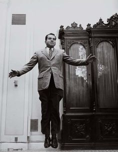 Richard Nixon jumps.