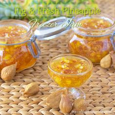 Fig & Fresh Pineapple Freezer Jam