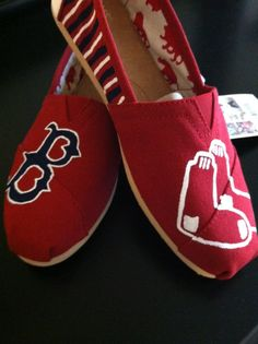 Boston Red Sox Toms by DesignofFaith on Etsy 0bac3c1e9