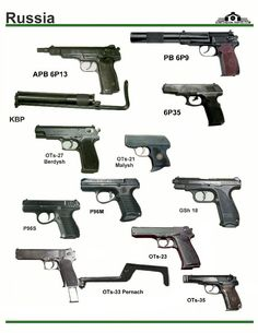 СССР / Россия: APB 6P13, PB 6P9, 6P35, KBP ...