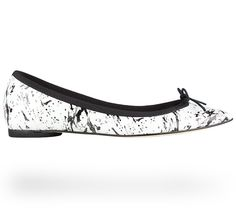 Ballerina Brigitte Virgin and Asphalt Drip by Repetto #RepettoShoes #WomenShoes #Ballerina #FlatShoes #PointedToe