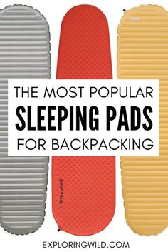 If you've ever camped before, you know: a sleeping pad is one of the most important decisions you make when choosing hiking gear for backpacking. Without good sleep, a hike goes downhill fast! In this post we'll look at the most popular backpacking sleeping pads from 25 JMT thru-hikers, and learn what makes them stand out. #hikinggear #backpackinggear #johnmuirtrail #jmt Winter Camping, Camping And Hiking, Hiking Gear, Hiking Backpack, Family Camping, Camping Hacks, Camping Checklist, Hiking Tips, Kayak Camping