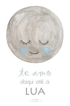 Pôster Lua para decoração do quarto do bebê menino