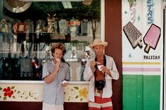 Walker and Jeff Johnson in Mexico having some ice cream.  Photo by Trevor Gordon