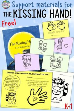 Do you read The Kissing Hand to your students on the first day of school? These free support materials include an easy way of communicating the magic to parents and caregivers! Starting Kindergarten, Kindergarten First Day, Kindergarten Lesson Plans, Kindergarten Activities, Book Activities, Kindergarten Writing, Teaching Reading, Kindergarten Freebies, Preschool Books