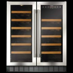 CDA 60 Freestanding or under Counter Double Door Wine Cooler FWC623