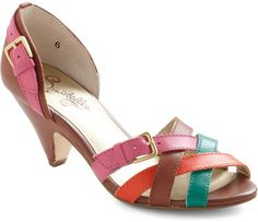 Modcloth Modest Heel in Multicolor (pink) - Lyst