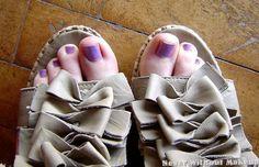 """#ASpassoConVinylux da 8 giorni oggi sui miei piedini #LilacLonging"""". #CND #Vinylux"""