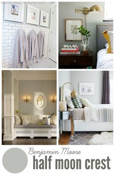 Beautiful real-life pictures of 2015's best #neutral paint colors - MUST PIN for future reference!