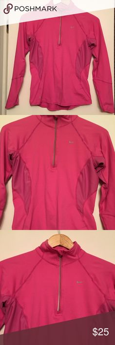 Nike FIT Dry Long Sleeve 1/2 Zip Pullover Size XS Nike FIT Dry Long Sleeve 1/2 Zip Pullover Size XS. I literally wore this one time only and it's in perfect/brand new condition. From a pet free and smoke free home. Nike Tops