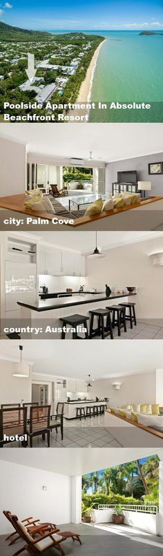 Poolside Apartment In Absolute Beachfront Resort, city: Palm Cove, country: Australia, hotel Australia Hotels, Tour Guide, Palm, Floor Plans, Tours, Country, City, Rural Area, Cities