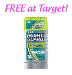Target: FREE Right Guard deodorant!!!