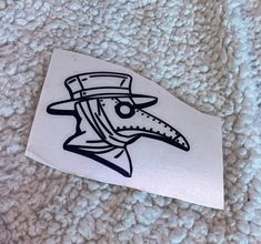 Excited to share this item from my shop: Plague doctor vinyl decal sticker Tattoos With Kids Names, Small Tattoos For Guys, Stick N Poke Tattoo, Stick And Poke, Phone Decals, Vinyl Decals, Car Decals, Hand Tattoos, Sleeve Tattoos