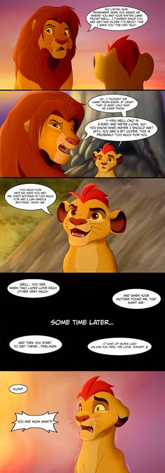 The Dad Talk (Lion King/Guard Edition) by OfficialStigma on DeviantArt
