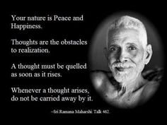 Sri Ramana Maharshi. Wisdom. Peace. Happiness
