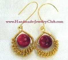 DIY Wire Jewelry Making: Coild Earrings