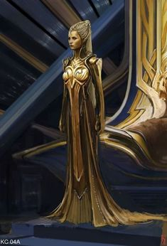 Guardians Of The Galaxy Early Ayesha And Ego Concept Art Guardians Of The Galaxy, Fantasy Dress, Fantasy Art, Meninas Star Wars, Business Mode, Alien Concept Art, Yoruba, Fantasy Costumes, Movie Costumes