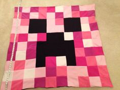 Minecraft Inspired Pink Creeper Blanket  PINK by C3MKcreations, $125.00
