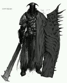 Concept Art, Myoung Hwan Kim on ArtStation at… Fantasy Character Design, Character Design Inspiration, Character Concept, Character Art, Fantasy Armor, Dark Fantasy Art, Medieval Fantasy, Dnd Characters, Fantasy Characters