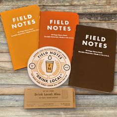 "Field Notes Drink Local Edition make a great gift for him.  Each set includes three colorful 48-page notebooks. The red, orange and brown colors are inspired by IPAs, ambers and stouts. Each three-pack comes bound in a chipboard belly band with a matching 3.5""-diameter, 2-color, pub-style coaster, lovingly letterpress-printed in Chicago on a vintage press."