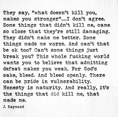 they say...