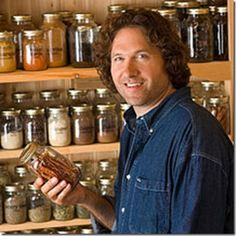 Chef at home's pantry.  I love the simplicity of the Mason jars.  I want this for my house!