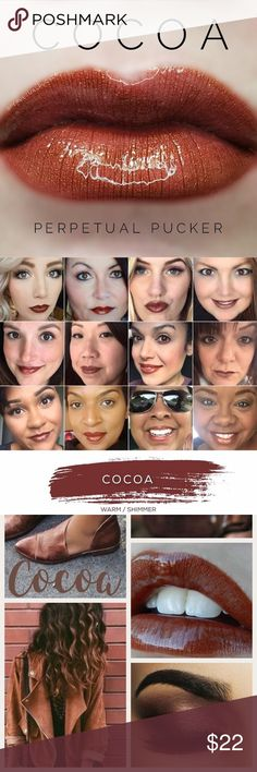 Cocoa LipSense LipSense is a patented, amazing departure from conventional lipstick and lip colors. LipSense is versatile in that you can mix shades to create a number of effects.   This unique product is waterproof, kiss proof, smudge proof, rub proof, and budge proof! It does not dry out your lips!  For first time users, it's recommended to purchase a starter kit (which consists of a glossy gloss, color and remover). I have each in my shop so if you need a starter kit please just create a…