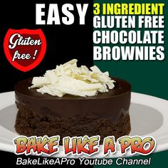 GLUTEN FREE 3 INGREDIENT BROWNIES RECIPE ►►► CLICK PICTURE for video recipe