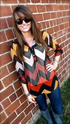 Wait, this is perfection. I'm obsessed with chevron stripes and need warmer colors in my closet.