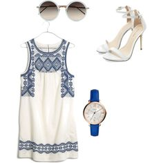 Untitled #16 by carmenmohr on Polyvore featuring polyvore fashion style Madewell FOSSIL Linda Farrow