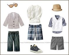 Little boys look great with one or two adorable accessories-- sunglasses, a hat, fun shoes...