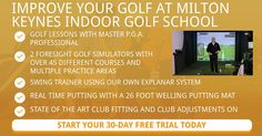 Indoor golf lessons in Milton Keynes. Get your game in shape for the coming season at Luther Blacklock Golf