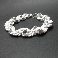 Spirála bílo stříbrná