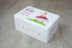 Kisten & Boxen - Spitzbub Erinnerungsbox Kiste - Pilzmädchen Pilz - ein Designerstück von Spitzbub bei DaWanda