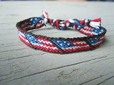 Bracelet d'amitié drapeau américain