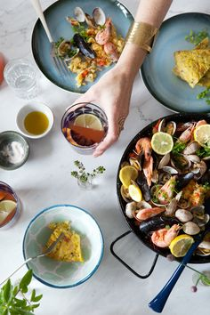 Paella, tortilla and sangria - the summer essentials - Cannelle et Vanille-I would add some spices to the paella for some taste, and seafood broth for my vegetarian friends!