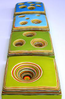amazing dimensional encaustic pieces by karl kaiser