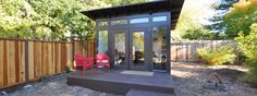 Bay Area office 10 x 12  Studio Shed Lifestyle
