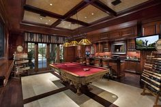 billiards hall with traditional design