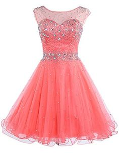 Sarahbridal Girls Short Tulle Beading Homecoming Dress Prom Gown US2 Coral Sarahbridal http://www.amazon.com/dp/B00ZN4JGHG/ref=cm_sw_r_pi_dp_lqacwb1VB3F9H
