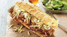 Québec-style philly cheese steak sandwich from Christian Bégin Roast Beef Sandwich, Philly Cheese Steak Sandwich, Steak Sandwich Recipes, Grilled Cheese Recipes, Appetizer Recipes, Beef Recipes, Cooking Recipes, Ideas Sándwich, Gourmet Burgers