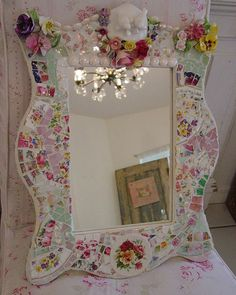 Whimsical 3~D Mosaic Mirror | Flickr - Photo Sharing!