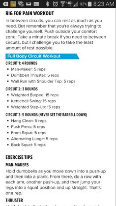 Ashley Horner's full body circuit