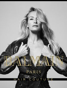 Estelle Lefebure for Balmain Hair Couture FW17 Campaign