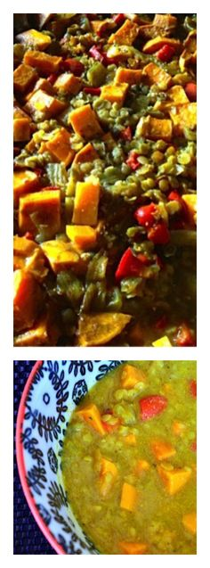Red Lentil and Sweet Potato Stew {vegetarian} on ReluctantEntertainer.com