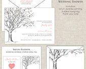 Sakura Cherry Blossom Love Birds Bridal Wedding Shower Invitations. $25.00, via Etsy.